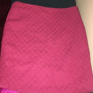 Cynthia Rowley pink tweed skirt